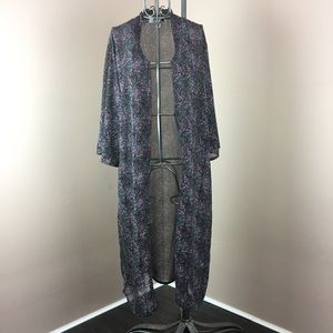 RD Style sheer duster kimono maxi cover up